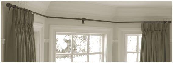 Bay Window Curtain Pole - Bay window curtains