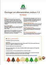 Åk 1-3, Lärarmaterial, övningar till Allemansrätten