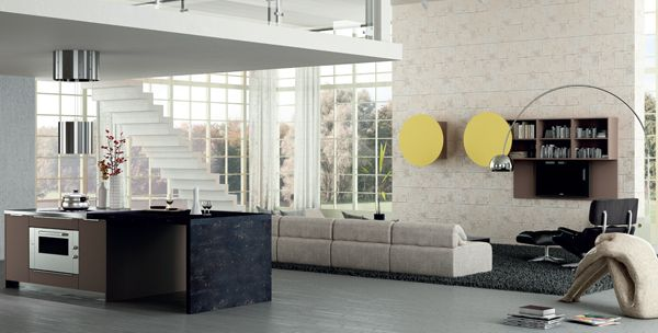 Valencia. Open Collection. Colour touches for creative geometry. Design by R&D Center. #kitchen #design #modern #openspace