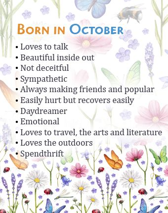 What Your Birth Month October Says About You