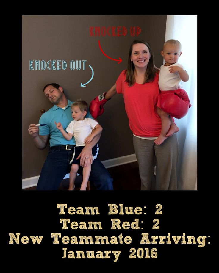 Pregnancy announcement third baby boxing family announcement