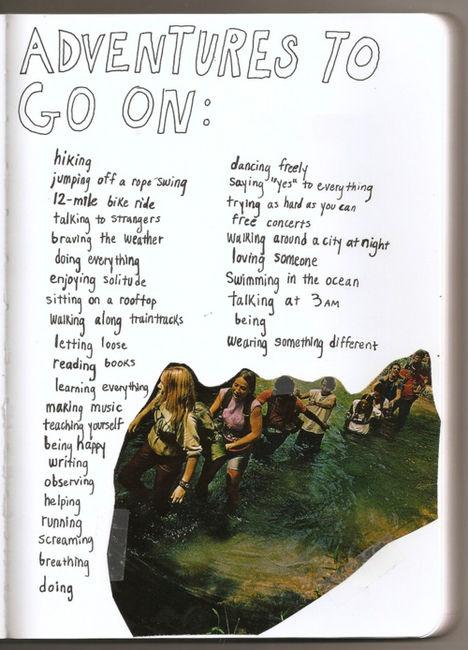 Adventures to go on