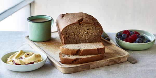 This banana bread recipe allows you to bake a moist, banana bread that uses protein packed teff and quinoa flour. #wellandgood #teffflour #quinoaflour