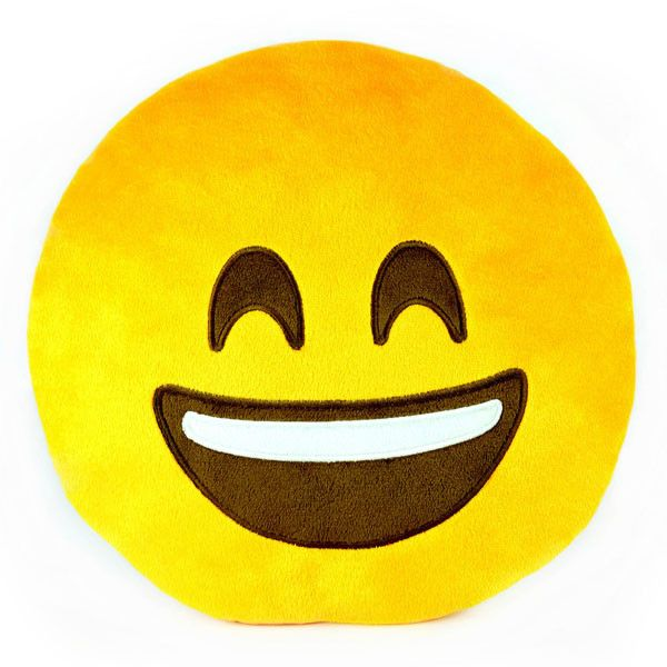 Smile Emoji Plush Pillow by Throwboy