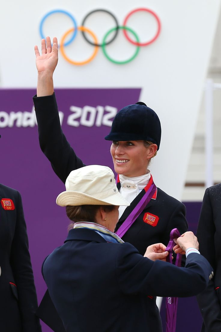 Zara Phillips when her mother presented her with her silver medal. Princess Anne, who competed at the 1976 Montreal Games