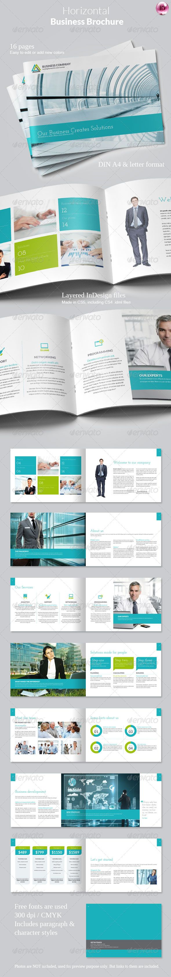 Horizontal Business Brochure - Corporate Brochures