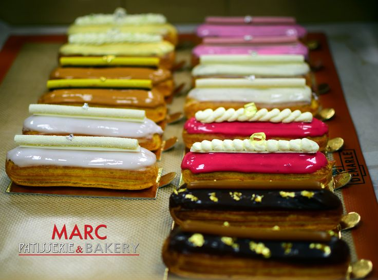 Some beautiful Éclairs by MARC Patisserie & Bakery #Eclairs #MARC #MarPatisserieBakery #Patisserie #Choux