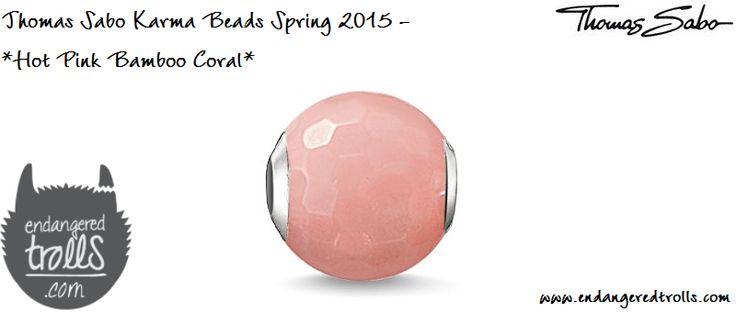 Thomas Sabo Karma Beads Hot Pink Bamboo Coral