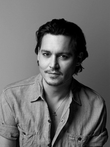 Johnny Depp  by Brigitte Lacombe, male actor, celeb, steaming hot, star, sexy, moustache, handsome, powerful face, intense eyes, portrait, photo b/w.
