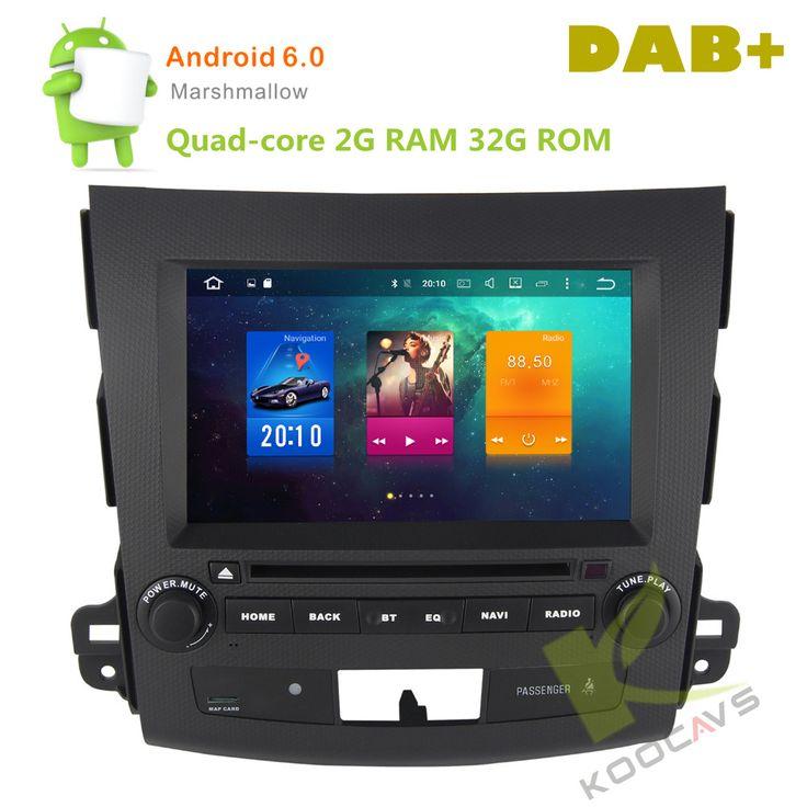 "8"" Android 6.0 Octa Core Car DVD Player For Mitsubishi Outlander 2006 2007 2008 2009 2010 2011 2012 Stereo Radio Audio Head unit"