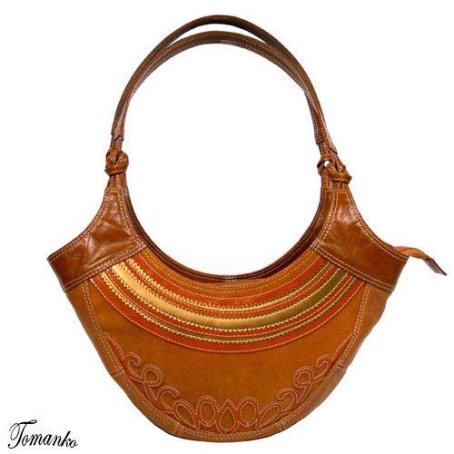 ZŁOTY UŚMIECH TOMANKO . TOREBKI Mała torebka w odcieniach rudości, lekko muśnięta złotem, unikatowy wzór.