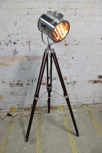TRIPOD FLOOR LAMP * Marine Nautical Signal Light Floor Lamp - Fat Shack Vintage