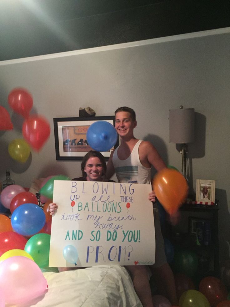 Balloon promposal #prom #ask #promposal #formal