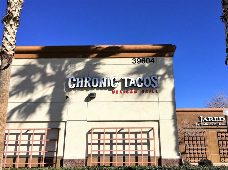 This is one of the three channel letter signs we made for Chronic Tacos in Palmdale, CA. This is the rear sign which was originally made to be non-illuminated.  A few months after the sign was made and installed, the owners wanted it to be illuminated so we drove up and installed LEDs into each channel letter.  The channel letters are made so the faces can be removed in case anything needs to be repaired so we were able to get the job done quickly!  #signage #tacos #california #palmdale