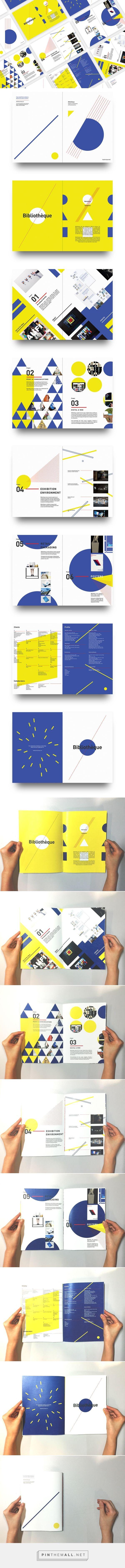 Geometric Brochure Design on Behance - created via https://pinthemall.net