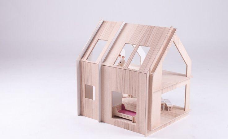 DOMEK czwarty, ze sklejki, ekologiczny | TAMIDO - domki dla lalek | modern dollhouse