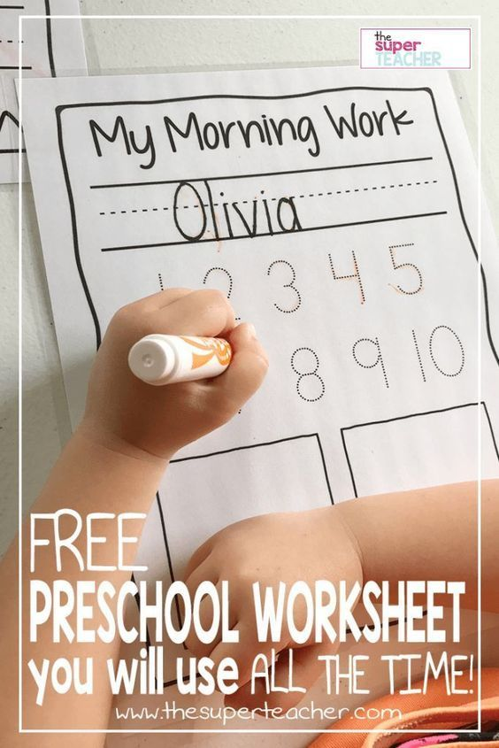FREE Preschool Worksheet You Will Use All the Time Free printable