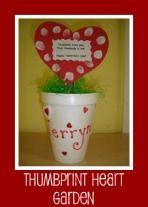 Valentines Day Craft for Kids thumbprint garden