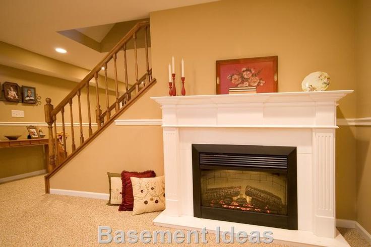 Basement fireplace Basement Pinterest