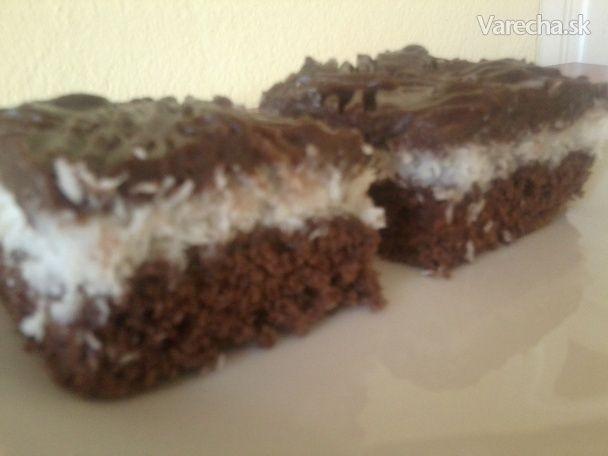Kokosovo-pudingový koláč (fotorecept)
