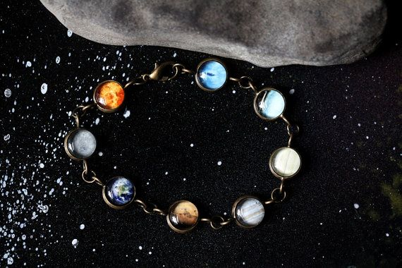 Solar System Bracelet Milky Way Galaxy Planet by yugentribe