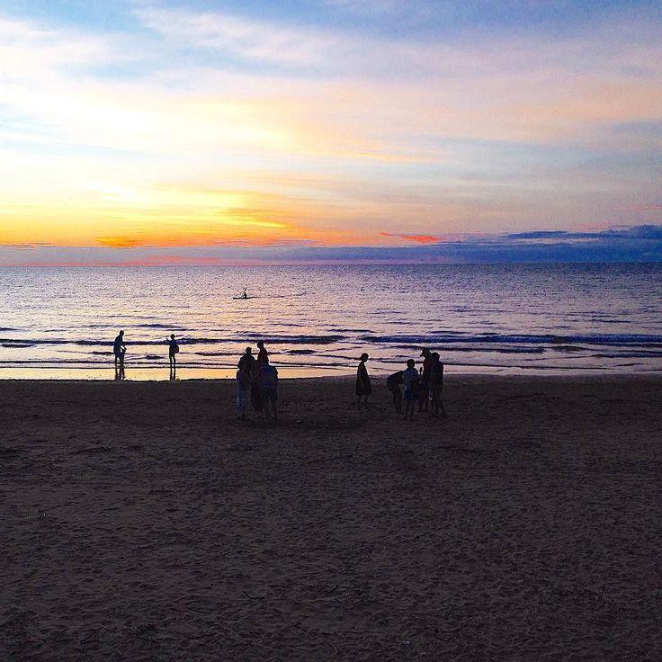 Fisheye Casuarina Beach Sunset, Darwin, NT Aus : pics