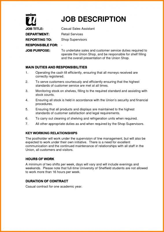 Sales Job Description Template Sample Resume Resume Job