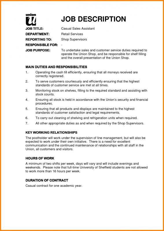 Sales Job Description  template  Sales job description Job description Job resume