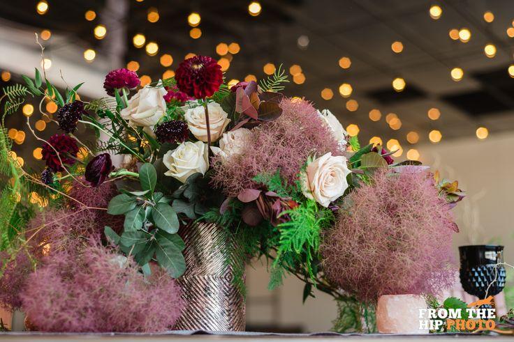 Flowers by Project Floral! at Moss Denver Event Venue! #WeddingFlowers #DenverFlorist #EventVenue #DenverVenue #EventSpace #DenverEventSpace #Bouquet #WeddingBouquet #DenverWedding #Bride #WeddingDress #MaroonWedding #MossWall #Bride #UrbanVenue #UrbanChic #WeddingFlowers #MaroonBouquet #WeddingCrown #Headpiece #WeddingHeadpiece #BlackWedding #BlackDecorations #BlackTableDecor #GothicWedding #HangingFrames #WeddingDecor #UniqueWeddingDecor #DogatWedding #GermanShepard