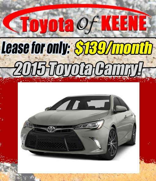 New 2015 Toyota Camry Lease Special at Toyota of Keene, NH!