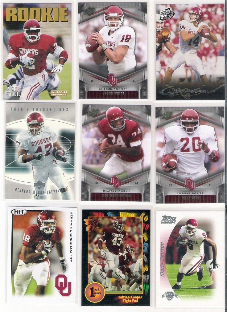 Oklahoma Sooners 88 Football Basketball Player Card Lot All Different Autograph | eBay