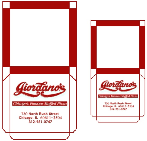 On The Scene - Rooms & Scenes - Giordanos - Pizza Boxes