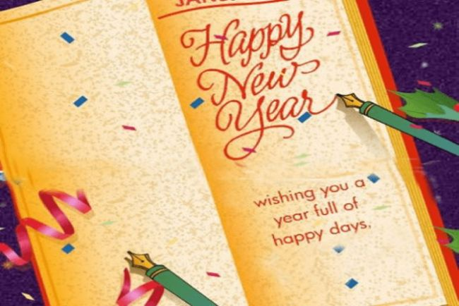 New Year Greeting 2018 With The wishes text Messages