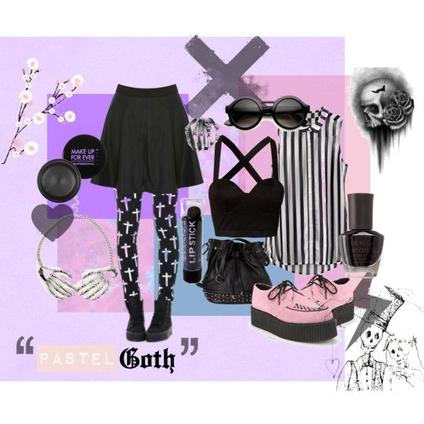 """""""Pastel Goth"""" by annapastelpanda on Polyvore #pastelgoth #nugoth"""