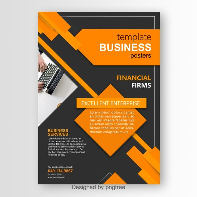 Modern Enterprise Poster Template Poster Template Business Poster Graphic Design Background Templates