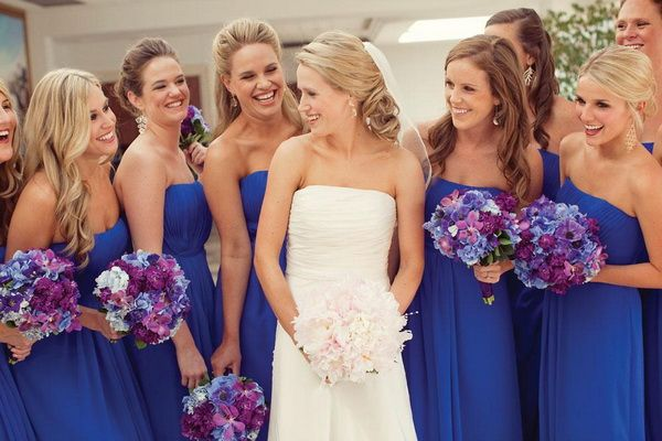 dazzling blue bridesmaid dresses for wedding 2014 on trend now