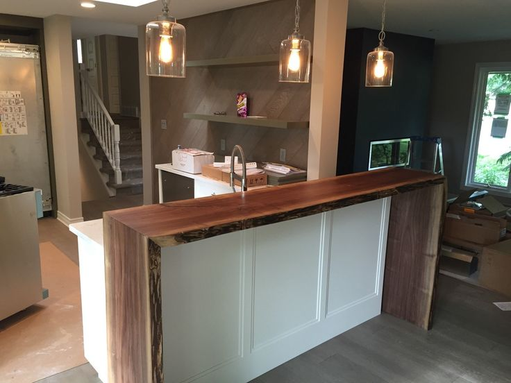 Kitchen Bar Designs Cabinets Com Live Edge Waterfall Breakfast (4000.00 Cad) By ...