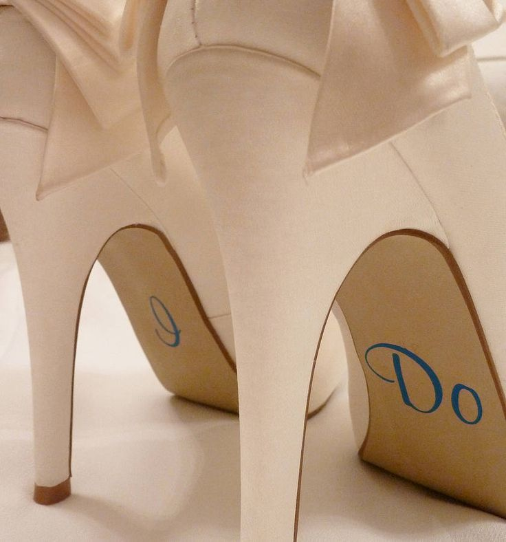 Personalised Wedding Shoe Stickers from notonthehighstreet.com