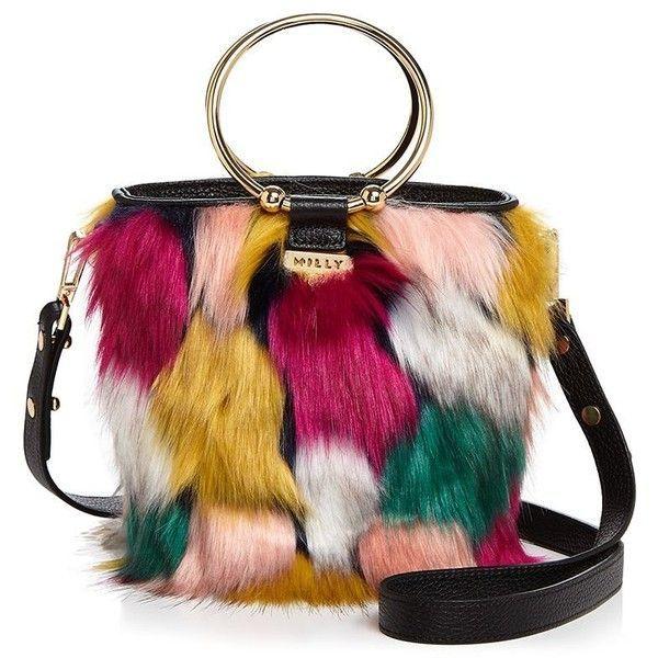 b839cce8775 Milly Drawstring Faux-Fur Bucket Bag (19.220 RUB) found on Polyvore  featuring women s fashion, bags, handbags, shoulder bags, handbag purse,  shoulder ...