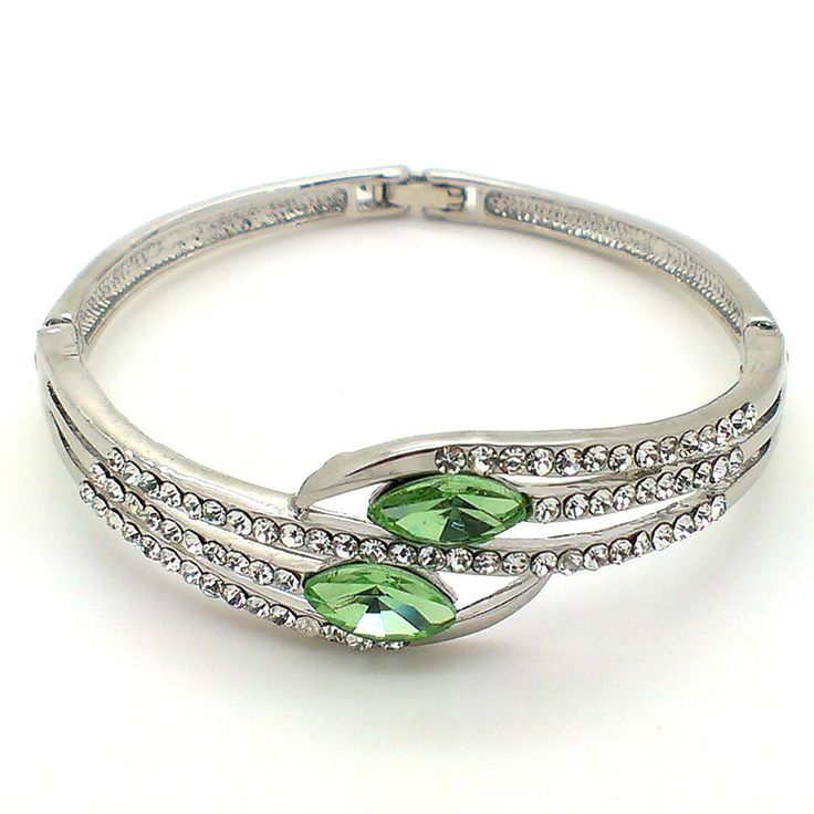 #Trendy #Mela Brings #Platinum Plated #Green Crystal #Fashion #Bangle. Get this #Online at just Rs.449 & Use coupon code to get discount. Get more details @ Trendymela.com