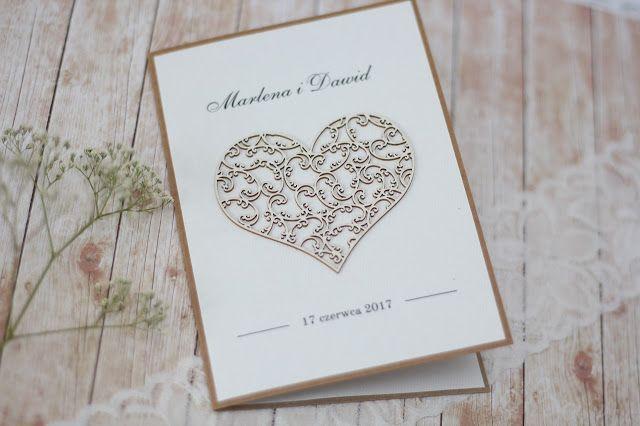 stylowe zaproszenia rustykalne, rustic, vintage, ślub