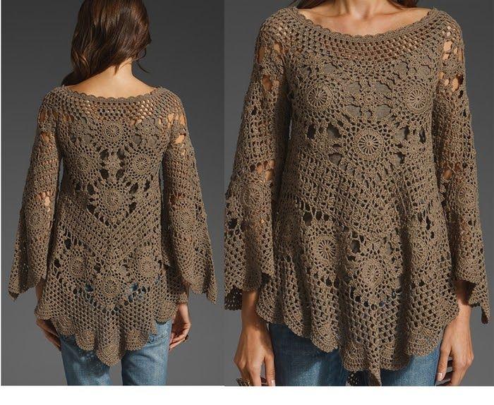 Mejores 104 imágenes de Remeras/Sacos/ Ponchos al crochet en ...