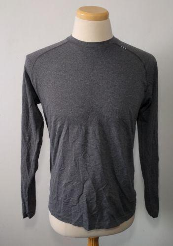 Lululemon Swiftly Tech Long Sleeve Tee Men's L Solid Grey T Shirt Luon