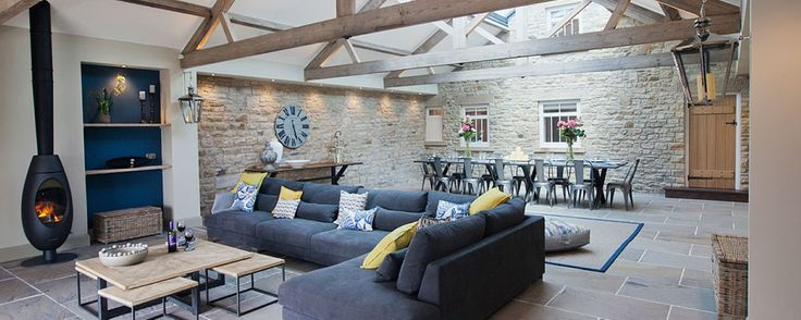 The stunning Lounge in the Dexter Barn. Luxurious accomodation.