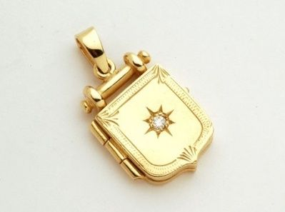 Locket - YESTERDAY, TODAY AND TOMORROW - 9ct Yellow or Rose Gold, Diamond or Birthstone Set.