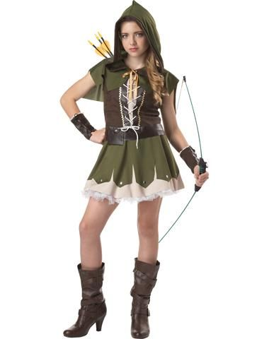"Robin Hood Girls Costume. Just HELL NO! Parents, do NOT send your little girl out dressed like this for Halloween! If they want to be ""Robin Hood"" dress them like Robin Hood, not Robin Hooker!!"