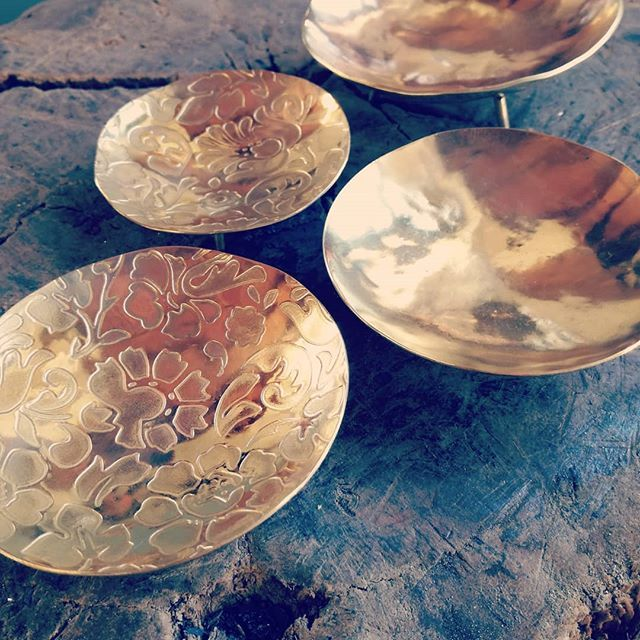 Ebonymoon etched and oxidized bowls #pulse18 #handcrafted #salt #spice #antimicrobial