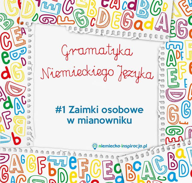 """Dzisiaj przed Wami pierwszy post z serii """"Gramatyka niemieckiego języka"""". Zaimki osobowe - czy to określenie coś Wam mówi?"""