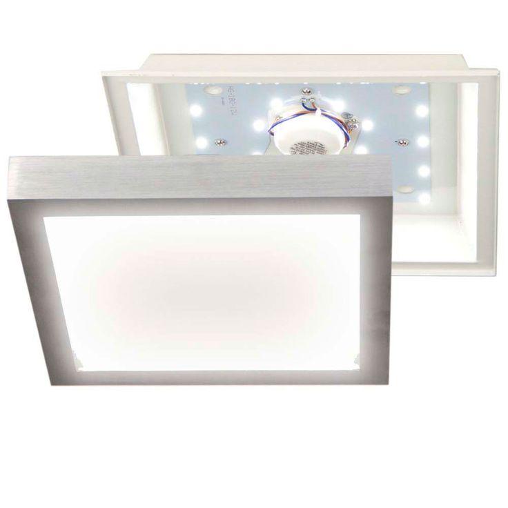 SKAPETZE   LED Deckenleuchte / 30 X 30cm / 12W / Alu Matt Innenleuchten