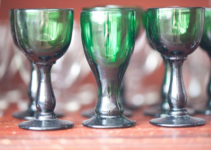 old green glass